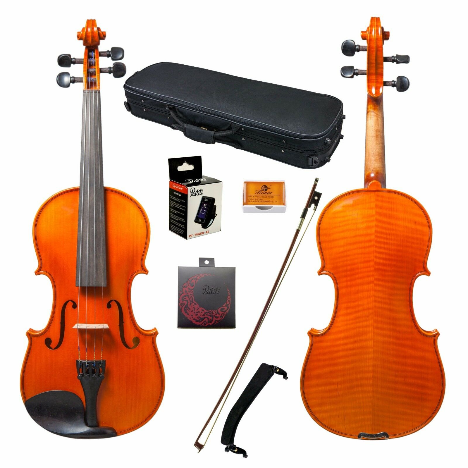 Paititi 1 2 Size Intermediate Level Plus Violin with Case, Bow and More