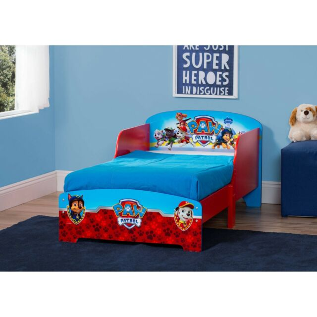 Paw Patrol Wooden Toddler Bed Kids Boys Bedroom Furniture