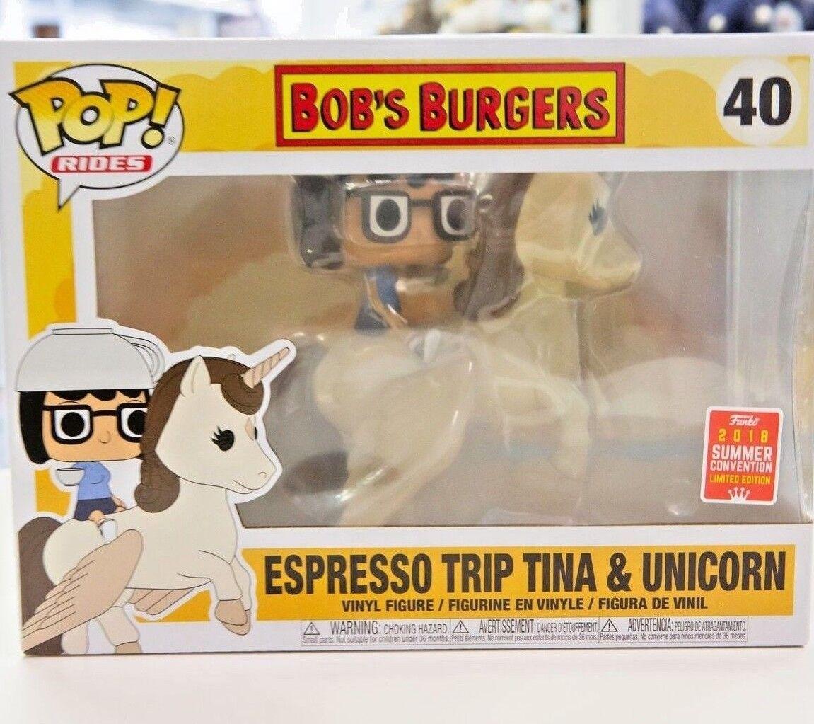 NYCC LIMITED EDITION Funko POP  Bob's Burgers Espresso Trip Tina & Unicorn  40  | Sonderaktionen zum Jahresende
