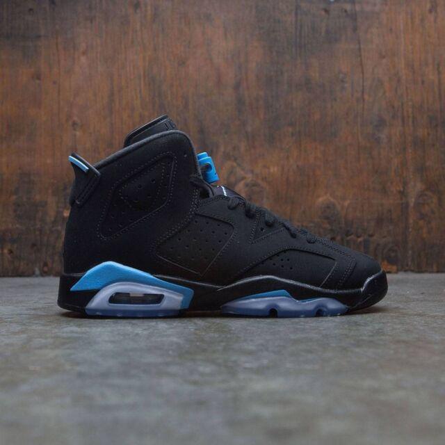 low priced 8bbc1 eb516 2017 Nike Air Jordan 6 VI Retro Black University Blue Size 7y. 384665-006 7