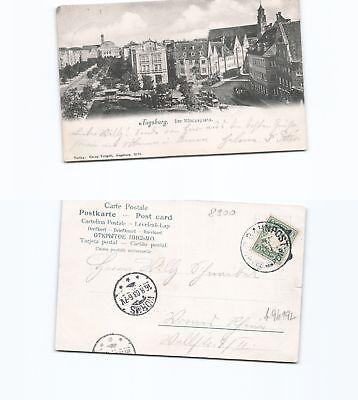 GemäßIgt Ansichtskarte Augsburg 1903 Nach Worms b96192