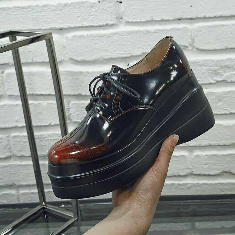 Vintage Womens High High High Heels Wedge Ladies shoes  Retro Causal Creeper Party shoes f95a0b