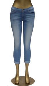 flygagagande Monkey jeans L874 ljus Rolled Up Hem Skinny NWT Sz 28 ny NWT