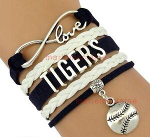 Image Is Loading Detroit Tigers Team Bracelet Mlb Baseball Infinity