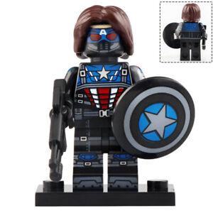 Shield And Hammer Minifigures Captain America W Superheros Toys Lego MOC