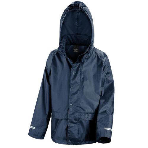 Childrens Waterproof Jacket Kids Boys Girls Childs Rain Coat Windproof