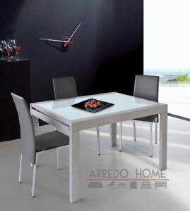 Piano In Vetro Per Tavolo.Tavolo Allungabile Piano Vetro Temperato Rettangolare 120x90 All 240
