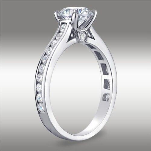 1.49 CT Brilliant Round Cut Engagement Ring Lab Diamond Solid 14k White Gold