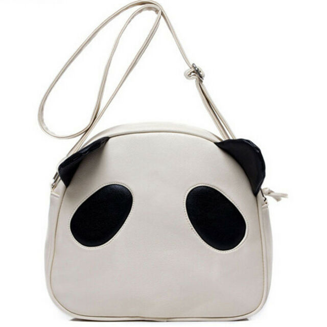 Novelty Girls Adorable Fad Panda PU Leather Handbag Shoulder Bag Lovely Bag ATAU