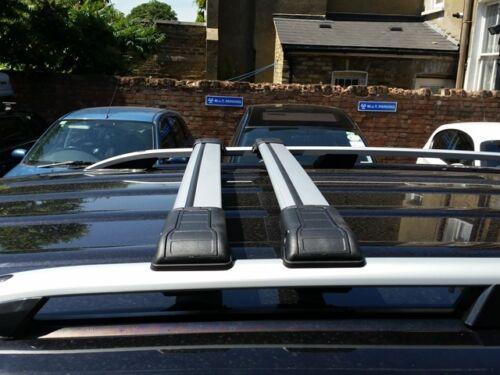 GREY LOCKABLE CROSS BARS 2010 ONWARD 75 KG VW CADDY SWB ROOF RAIL BARS