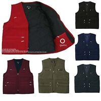 Mens Utility Multi Pockets Hunting Fishing Shooting Padding Vest Outdoor Jacket