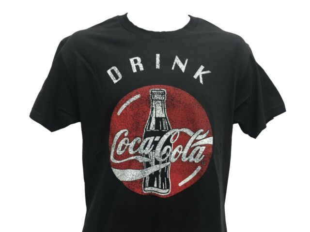 Coke Crest Enjoy Refreshing Coca Cola Logo Vintage Retro Drink T Shirt S-2XL