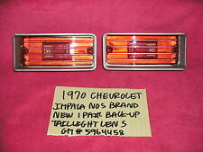 1970 CHEVROLET IMPALA NOS FACTORY 2 BACK UP TAILLIGHT LENS 5964458 FREE SHIPPING