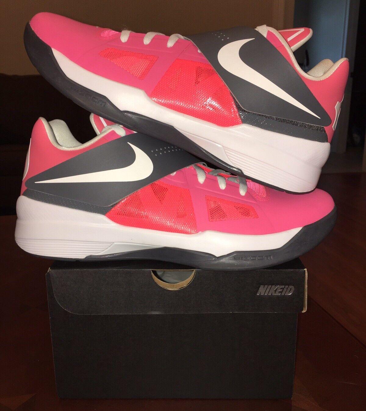 Nike KD 4 id IV id 4 Rosa Gris Jordan Retro 13 ovo Yeezy 1 2 3 4 5 6 7 8 9 10 11 12 casual muy salvaje 214a94