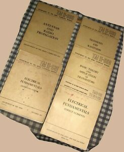 Vintage-Lot-5-1950-039-s-Dept-of-the-Army-Air-Force-Technical-Manuals-1951-1953-1959