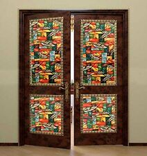Non-adhesive Static Cling Window Shades Privacy Stained Glass Vinyl Window Films