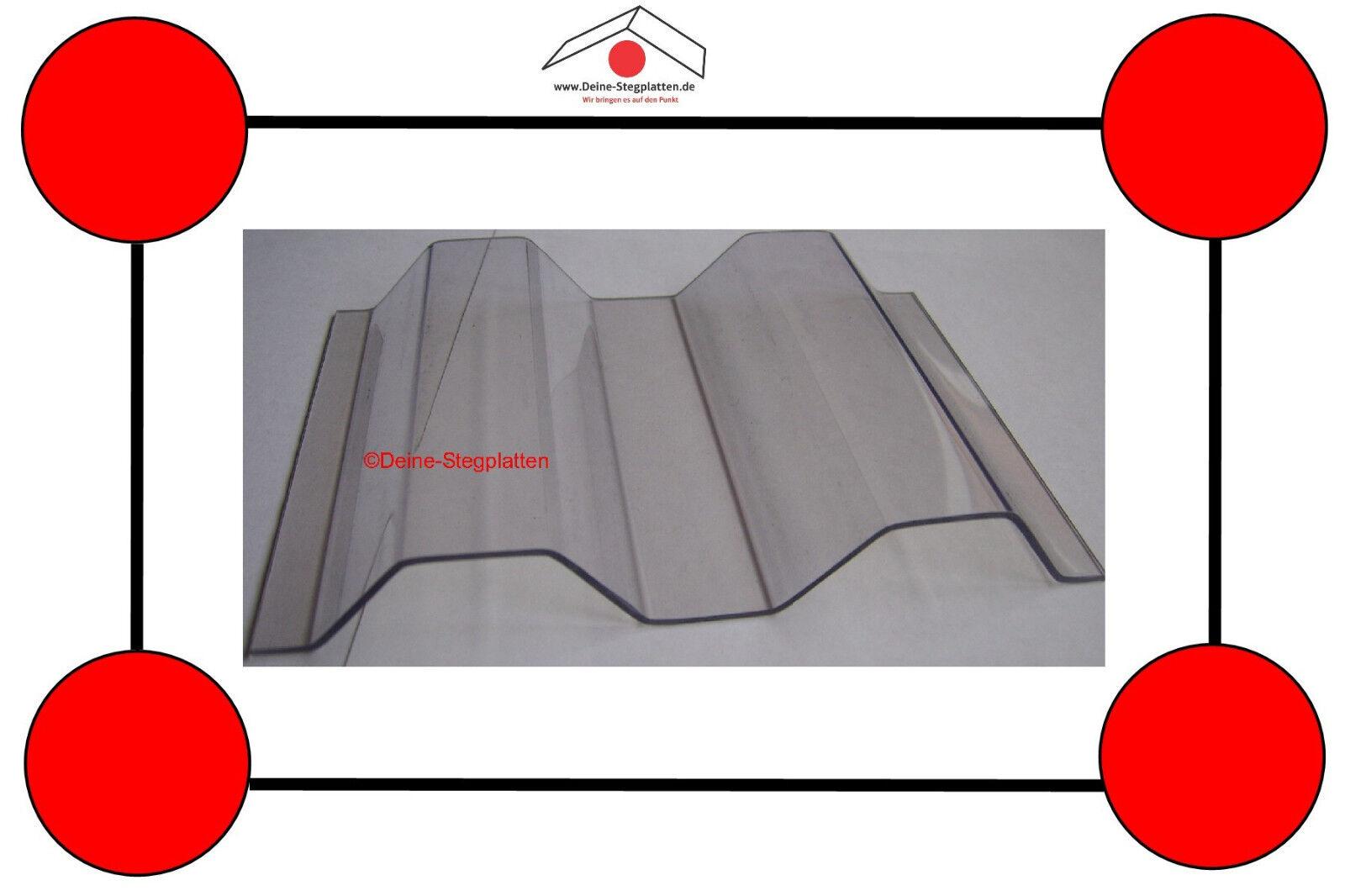 Lichtplatten aus Polycarbonat, Sinus- oder Trapezwelle,hagelfest, klar,5 bis 7 m