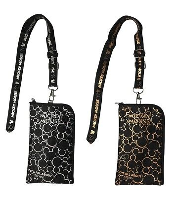 Mickey Mouse Lanyard Mickey Lanyard Cell Phone ID Holder Case Coin Badge