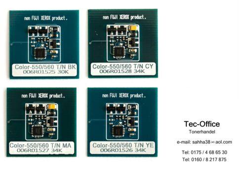 1 SET XEROX TONER CHIP COLOR 550/560/570 CMYB 006R01525 - 006R01526 - 006R01527