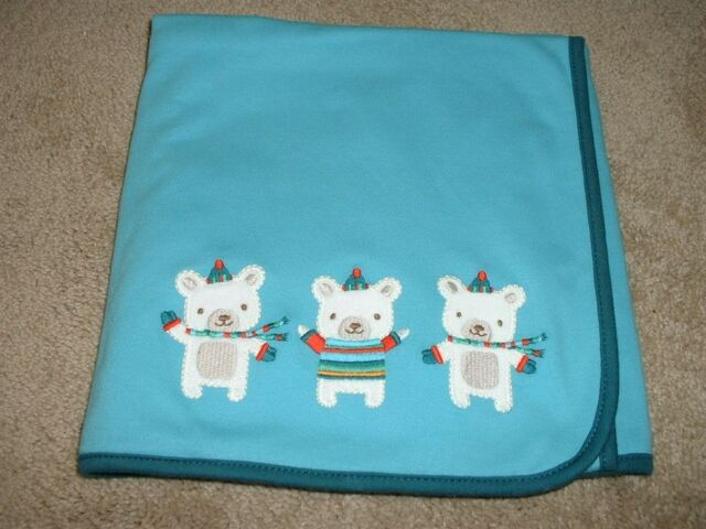 Baby Infant Boys Gymboree Snow Bear Blanket NB Newborn 0-3 3-6 6-12 mos NWT NEW
