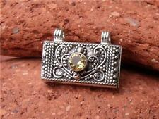 SMALL BALINESE 925 SILVER/CITRINE PRAYER BOX PENDANT SILVERANDSOUL JEWELLERY