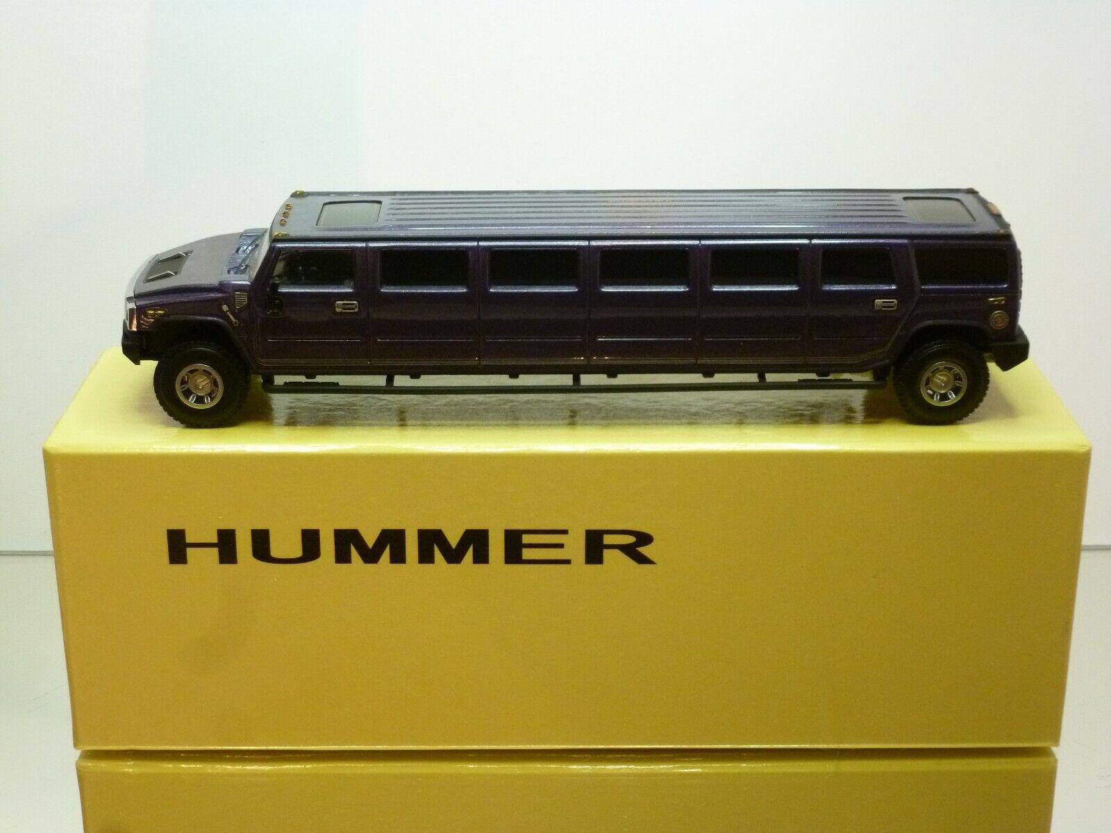 costo real MODELK MODELK MODELK HUMMER H2 LIMOUSINE - púrpura METALLIC 1 43 - EXCELLENT CONDITION IN BOX  connotación de lujo discreta
