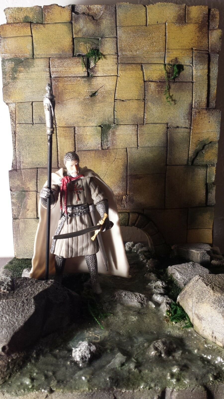 Ultimate soldiers  21st cen  Figure   with  Diorama Base