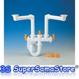 3s Sifone Spazio 2 Lira X Lavello Lavatoio A 2 Vasche