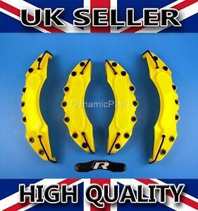 Yellow-Sport-Delantero-y-Trasero-Pinza-De-Freno-Kit-Set-Cubre-ABS
