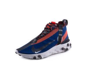 850f84e4fe1 Nike Mens React Runner Mid WR ISPA Blue Void Team Orange AT3143-400 ...