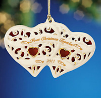 Lenox 2011 Together For Christmas Heart Ornament