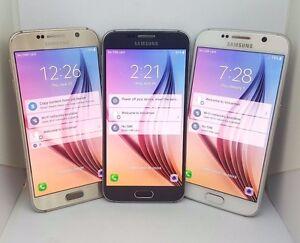 Samsung-Galaxy-S6-Verizon-Unlocked-32GB-SM-G920V-Black-Gold-White-LCD-Burn