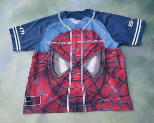 Details about Vintage Spiderman The Movie Men's Baseball Jersey Size XL.