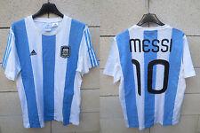 Maillot coton T-shirt ARGENTINE ARGENTINA Messi 10 rétro vintage ADIDAS M shirt