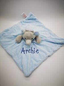 Personalised-Baby-Soft-ELEPHANT-Comforter-Taggy-taggie-tag-Blanket-Girl-Gift