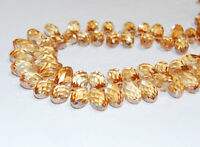 Sparkle Crystal Glass Faceted Teardrop Loose Beads. Size 6x12mm/10x19mm