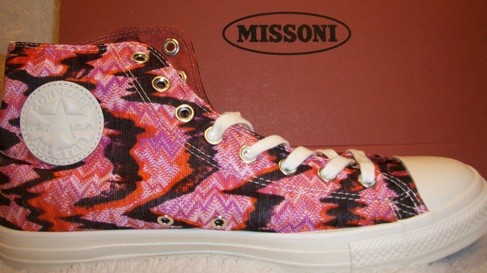 Converse 154441C CTAS Hi Missoni Pink Blk Men's 10 -Women's 12 Mfg Ret  150