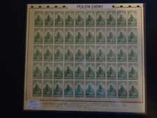 POLEN ZARKI 1919 7-9 ** POSTFRISCH per 50 im BOGEN ca 18000€(82412c