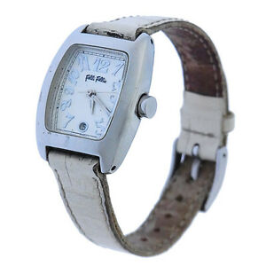 Folli-Follie-Watches-Silver-White-Woman-Authentic-Used-Y2168