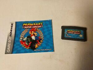Mario Kart: Super Circuit (Game Boy Advance, 2001) w/Manual