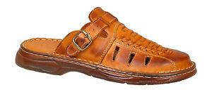 Men-Genuine-Buffalo-Leather-Orthopedic-Sandals-Slip-On-Shoes-UK-Size-6-7-8-9-10