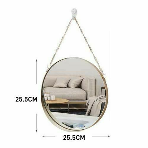 Wall Mounted Round Mirror Nordic Style Geometric Mirrors For Home Bathroom