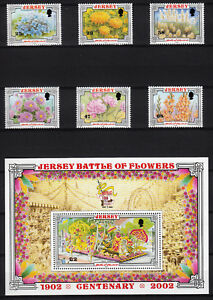 104389/jersey 2002-mi 1041/6 U. Bl. 33-battle Of Flowers - ** - M € 16,50
