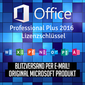 microsoft office pro professional plus 2016 mit rechnung. Black Bedroom Furniture Sets. Home Design Ideas