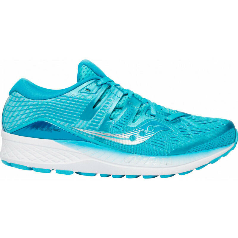 Womens Saucony Ride Iso Women's Running Runners Sneakers Casual shoes - bluee