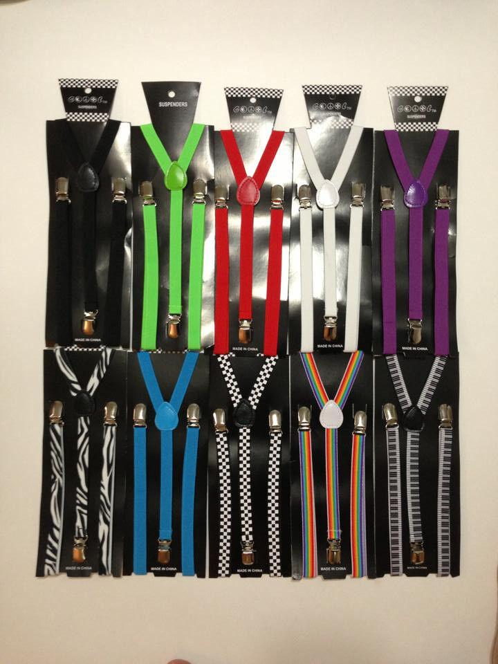 10 Farben Mens & Womens mit Clip Skinny Hosenträger Elastisch Y-Form Verstellbar