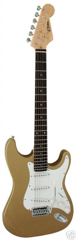 E-Gitarre Vision Gold + Anschlusskabel Neu