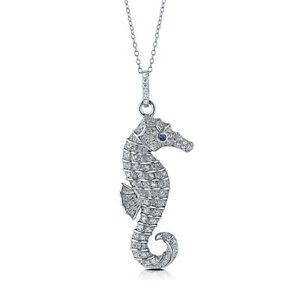 Berricle sterling silver seahorse pendant necklace made with image is loading berricle sterling silver seahorse pendant necklace made with aloadofball Image collections