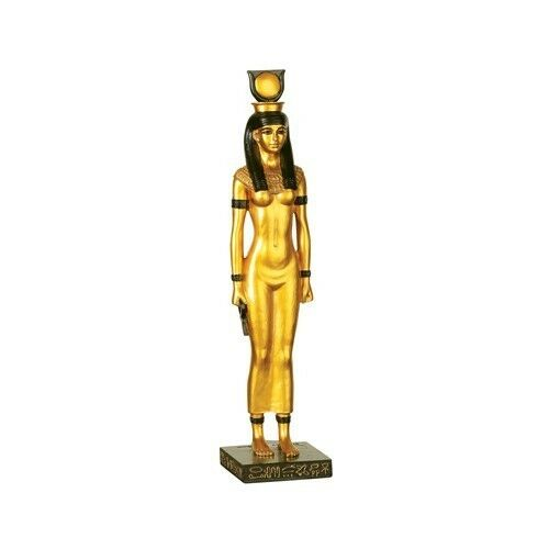 EGYPTIAN HATHOR STATUE.ANCIENT EGYPT HEH.ETERNITY FIGURINE COLLECTIBLE.NEW!