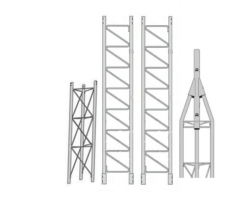 ROHN 45G Series 30' Self Supporting Tower Kit with 45AG Top Section with 2 Pipe. Available Now for 1118.00